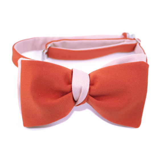 Papion Self-Tie Peach Echo