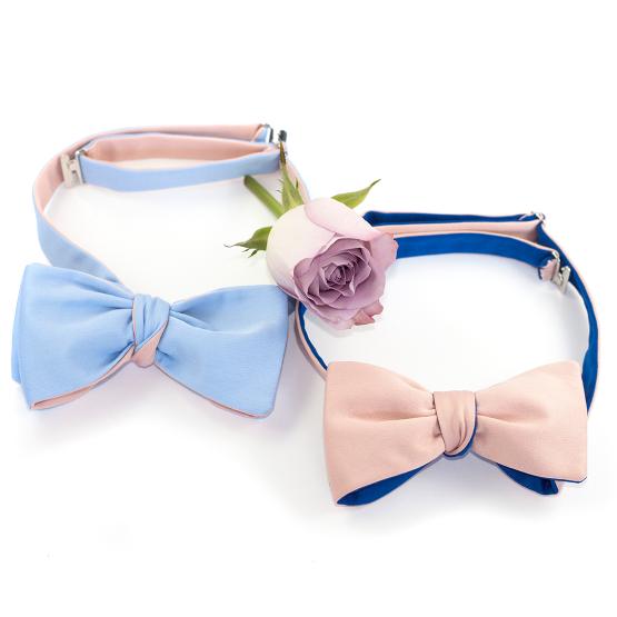 Papion Self Tie Blush Rose