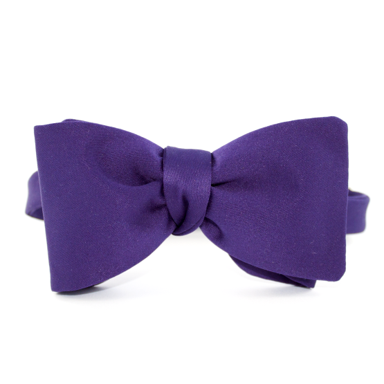 Papion Self-Tie Purple - Papioane Self-Tie
